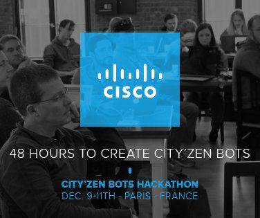 Tweet report : Hackathon Cisco City'Zen bots @IONIS 361